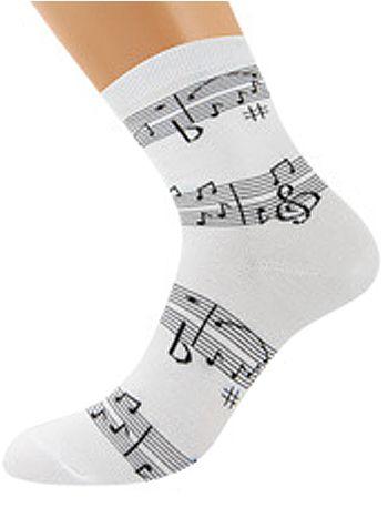 Носки Griff D3M1Носки Griff D3M1. Хлопковые носочки с высоким паголенком и стильным музыкальным принтом.<br>