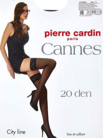 Чулки Pierre Cardin CannesЧулки эластичные, шелковистые с кружевной отделкой 8см. отформованной пяткой и двойной силиконовой поддержкой.<br>