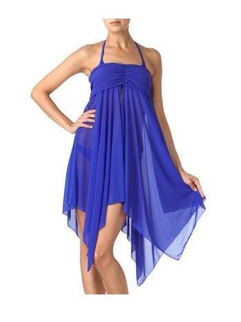 Платье-юбка Charmante WU 291206Пляжное платье-юбка Charmante WU 291206. Оригинальный пляжный аксессуар прекрасно комплектуется со всей коллекцией купальников. Юбка-сарафан с широко драпированным верхом, клиновидной юбкой и разрезом по передней линии. Модель выполнена из эластичной солнцезащитной сетки, которая обладает эффектом сохранения прохлады. Удобна в использовании: легко стирается и быстро сохнет.<br>