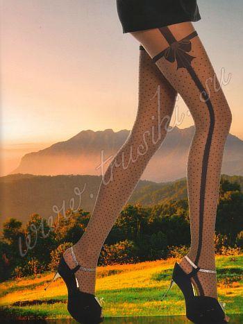 Колготки Charmante Colcamar 20Колготки 20 ден Charmante Colcamar. Особо деликатные колготки 20 den с элегантным рисунком из соединяющихся контрастных нитей, которые эффектно завязываются в шикарный бант.. Идеально подчёркивают длину и стройность ног. Плоские швы, укрепленный носочек, х/б ластовица и широкий эластичный пояс для особого комфорта.<br>