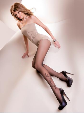 Колготки Gabriella Cecylia 20Фантазийные колготки Gabriella Cecylia плотностью 20 ден. Тонкие шелковистые колготки из лайкры вдвойне оплетенной полиамидом обладают легкостью и эластичностью. Плоские швы, гигиеничная хлопковая ластовица, без шортиков. На ноге элегантное украшение, которое подчеркнёт вашу утонченность и чувство стиля.<br>