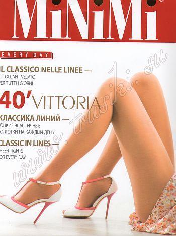 Колготки MiNiMi Vittoria 40Классические эластичные колготки 40 ден MiNiMi Vittorio с усиленными шортиками и укрепленным мыском.<br>
