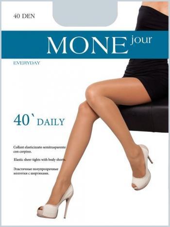 Колготки MONEjour Daily 40Эластичные полупрозрачные колготки с шортиками<br>