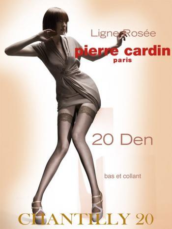 Чулки Pierre Cardin Chantilly 20Чулки с силиконовой поддержкой Pierre Cardin Chantilly. Модель имеет кружевную отделку и двойную силиконовую поддержку 8 см. Плотность чулок - 20 ден.<br>