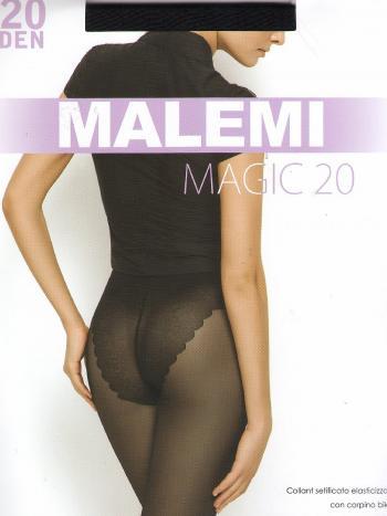 Колготки Malemi Magic 20Колготки Malemi Magic 20 ден. Тонкие эластичные колготки с ажурными трусиками-бикини. Комфортный пояс, гигиеническая ластовица, укрепленный прозрачный мысок. Тоненькие колготки на ногах - приятное ощущение свежести.<br>