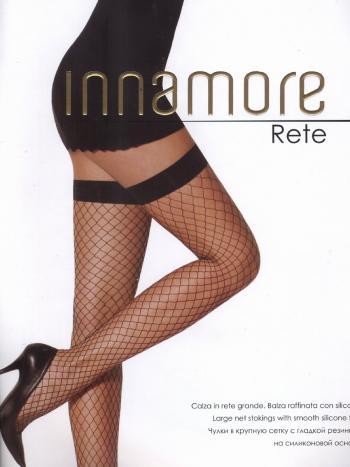 Чулки в крупную сетку Innamore ReteЧулки в крупную сетку Innamore Rete. Экстравагантная модель, которая несомненно привлечет внимание к вашим ножкам. Чулки имеют гладкую резинку на силиконовой основе.<br>