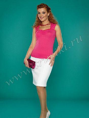 Топ ЮНА 050Топ ЮНА 050. Красивая блуза - бюстье на широких бретелях. Такая блуза отлично подходит как и под джинсы так и под любую классическую одежду. Материал из которого выполнена блуза - вискоза с добавлением эластана, благодаря которому изделие сохранит свой вид после многих стирок. Блуза смотрится очень женственно и стильно.<br>