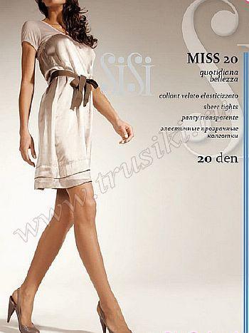 Колготки Sisi MissКолготки 20 ден Sisi Miss. Модель с поддерживающими шортиками, лайкрой, комфортным поясом и укрепленным носком для более долгой носки. Колготки без ластовицы.<br>