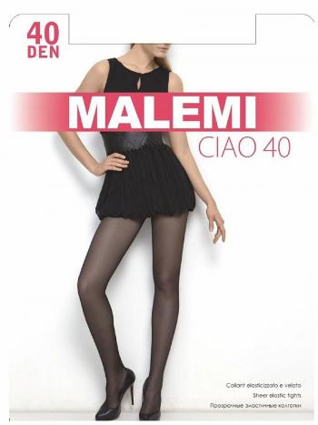 Колготки Malemi Ciao 40Колготки Malemi Ciao плотностью 40 ден. Прозрачные эластичные колготки с шортиками, комфортным поясом и прозрачным укрепленным мыском.<br>