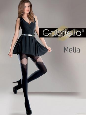 Колготки Gabriella MeliaЭксклюзивные колготки Gabriella Melia, с красивым необычным узором сверху, выполнены по технологии Lycra 3D. Верх изделия выполнен без выделенных трусиков. Ваши ножки будут смотреться великолепнои утонченно!<br>