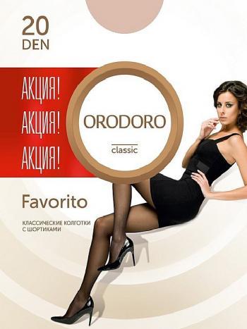 Колготки Orodoro Favorito 20Колготки Orodoro Favorito. Классические колготки с шортиками на каждый день. Комфортные плоские швы, невидимый укрепленный мысок, мягкая, эластичная, плотно прилегающая резинка на поясе.<br>
