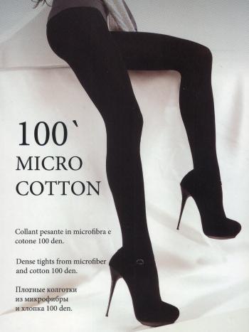 Колготки MONEjour Micro CottonКолготки 100 ден MONEjour Micro Cotton плотные трехмерной эластичности. Элегантные, комфортные, прочные. Имеют двухслойную структуру-хлопок внутри, микрофибра с внешней стороны. Плоские швы. Ластовица х/б.<br>
