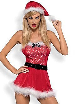 Комплект Obsessive Mrs Claus Dress