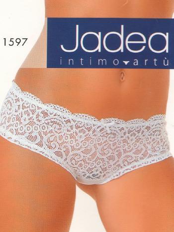 Трусики Jadea 1597Трусики-слип Jadea 1597. Соблазнительные трусики, сзади из ткани-сеточки, а спереди из полупрозрачного кружева с узорами. Создайте Ваш образ совершенной чувственности!<br>