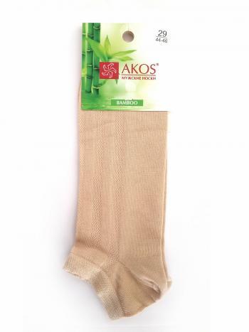 Носки Akos C7A6Мужские носки Akos C7A6. Носки с рельефным узором в продольную полоску из бамбукового полотна. Модель с укороченным паголенком и комфортной неширокой резинкой.<br>