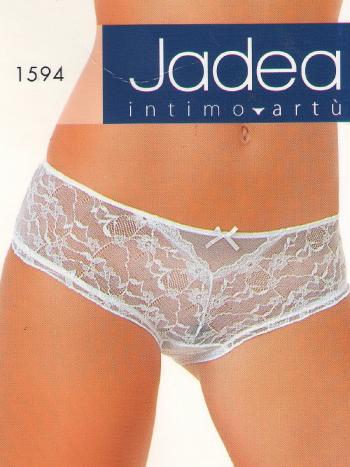 Трусики Jadea 1594Трусики-слип Jadea 1594. Прозрачные трусики из тонкой и нежной ткани-сеточки, спереди кружевной цветочный рисунок. Создавайте свой головокружительный образ каждый день!<br>