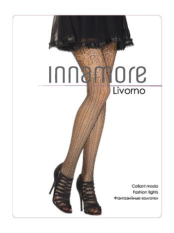 Колготки Innamore LivornoФантазийные колготки Innamore Livorno. Стильные колготки в сетку с имитацией ажурных чулок, комфортный пояс, хлопковая ластовица.<br>