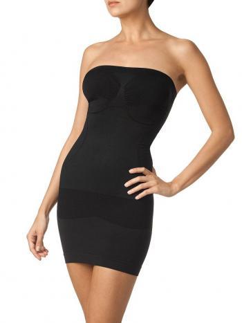 Платье Charmante UINQ021203Корректирующее платье Charmante UINQ021203. Уникальное платье позволит создать красивую форму груди, тонкую талию, плоский живот. Уплотненные ленты создают бразильский эффект в районе ягодиц. Платье имеет съемные регулируемые бретельки.<br>