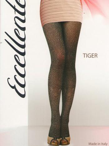 Колготки Eccellente TigerФантазийные колготки Eccellente Tiger - эффектная модель с тигровым рисунком. Колготки имеют плоские швы, укрепленный носок и ластовицу, верх изделия выделен шортиками.&amp;nbsp;Стильная модель которая внесет яркую изюминку в ваш повседневный образ!<br>