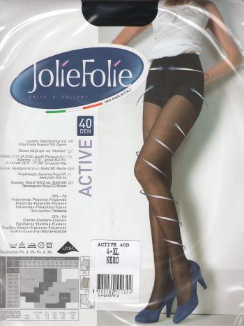Колготки Jolie Folie Active 40Колготки 40 ден Jolie Folie Active. Колготки обеспечивают поддерживающий эффект и улучшают микроциркуляцию в ногах, благодаря распределенному давлению по всей длине ноги.<br>