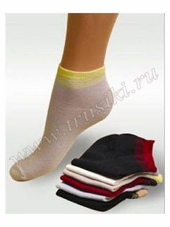 Носки Грация H-001Носки женские Грация H-001. Укороченные всесезонные женские носочки из хлопкового трикотажа с добавлением лайкры для эластичности и комфорта.<br>