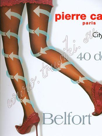 Колготки Pierre Cardin BelfortКолготки Pierre Cardin Belfort с микромассажным, антицеллюлитным эффектом, без выделенных трусиков. Активизируют циркуляцию крови благодаря градуированному давлению на ногу. Шелковистые, эластичные однородные по всей длине, с х/б ластовицей и комфортными швами. Укрепленный прозрачный мысок и отформованная пятка. Плотность колготок Pierre Cardin Belfort - 40 ден<br>