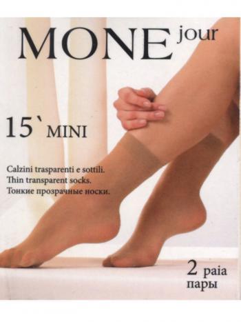 Носки (2 пары) MONEjour MiniНабор из 2-х пар носков 15 ден MONEjour Mini. Тонкие эластичные носочки, с широкой резинкой и укрепленным мыском.<br>