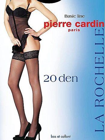 Чулки Pierre Cardin La Rochelle 20Чулки Pierre Cardin La Rochelle 20 ден с кружевной резинкой и двойной силиконовой поддержкой.<br>