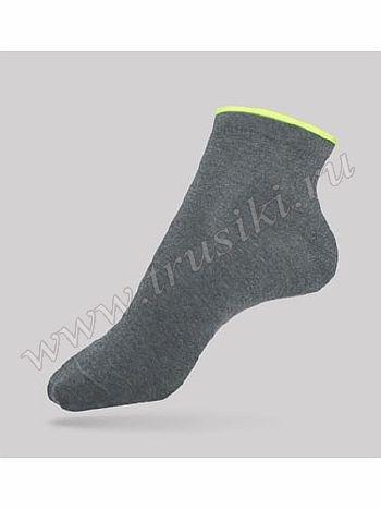 Носки Conte 12С-32СПНоски женские Conte Active 12С-32СП. Спортивные носочки с укороченным паголенком выполнены из высококачественного хлопкового трикотажа. Комфортная рещинка оформлена декоративным бортом контрастного цвета.<br>
