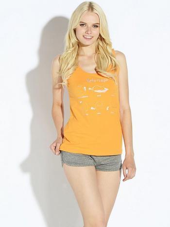 Комплект Pelican PVH 675Комплект майка + шорты Pelican PVH 675. Симпатичная пижама из хлопковыого трикотажного полотна. На майке прикольный принт металлик. Шорты с регулируемым поясом с кулиской и декоративным шнурком.<br>