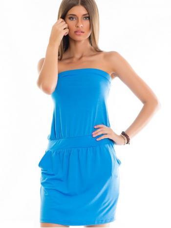 Платье Pelican FDV 591/3Платье Pelican FDV 591/3. Легкое и современное платье-бандо подойдет для прогулки и дружеской вечеринки. Нежная модель, способная подчеркнуть девичью красоту. На поясе широкая резинка, которая придает платью стильный силуэт.<br>