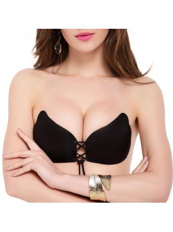 Бюстгальтер Dentelle A-112УЦЕНКА. Уникальный бюстгальтер-невидимка Dentelle Fly bra A-112 идеально подойдет под одежду с открытыми плечами или спиной. Инновационная форма чашек на шнуровке зрительно приподнимает грудь, формирует соблазнительное декольте и визуально увеличивает размер груди. Бюстгальтер мягкий на ощупь и совершенно незаметен под одеждой. Силикон на внутренней поверхности чашек нанесён особым образом, позволяя телу дышать. Инструкция по использованию и уходу за изделием указана на упаковке. Обратите внимание, использование силиконового бюстгальтера не рекомендовано для женщин с чувствительной кожей. Причина уценки - потертости на люверсах.<br>