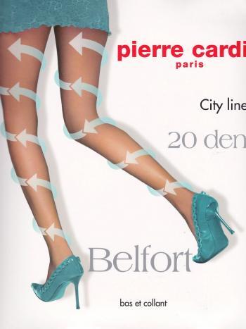 Колготки Pierre Cardin BelfortКолготки 20 ден Pierre Cardin Belfort с микромассажным, антицеллюлитным эффектом. Активизируют циркуляцию крови благодаря градуированному давлению на ногу. Шелковистые, эластичные, однородные по всей длине, с х/б ластовицей и комфортными швами.<br>