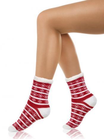 Носки Charmante SCHC-1409Носки Charmante SCHC-1409. Мягкие зимние носочки с этническим орнаментом на ткани. Изнутри носочки из микроплюша. Изделие отлично сядет на ножке и согреет Вас в холода!<br>
