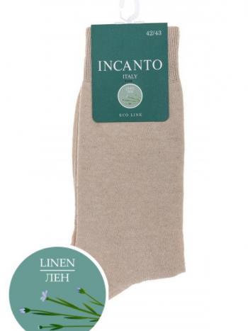 Носки Incanto BU733025Носки мужские Incanto BU733025. Всесезонные гладкие однотонные носки из хлопка и льна. Формованная пятка и мысок, комфортная резинка.<br>